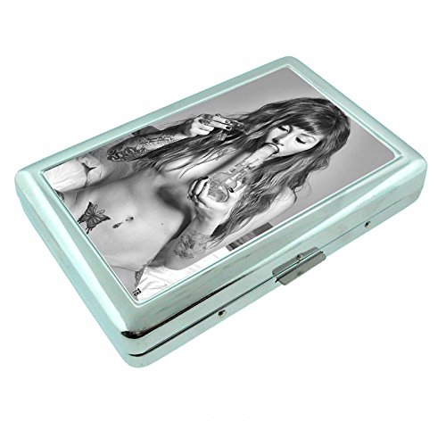 Stoner Girls S4 Smoking Metal Silver Cigarette Case Wallet Id Holder 4