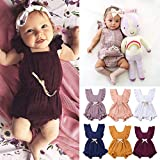 Birdfly 40%0ff 3M-24M Toddler Baby Basic Candy Color Ruffle Jumpsuit Romper