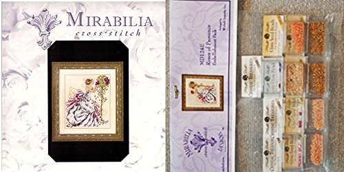 Mirabilia Cross Stitch Chart with Embellishment Pack ~ ROSES OF PROVENCE #124 ()