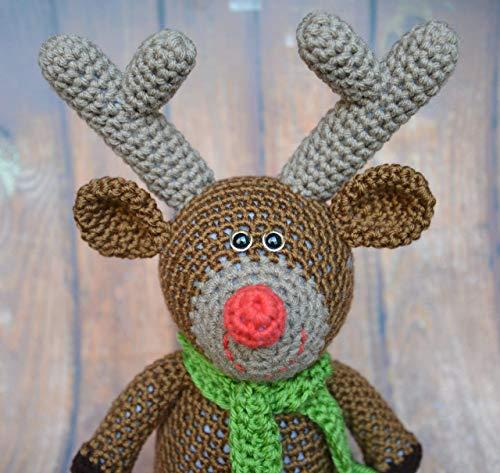 Crochet Reindeer Toy for Christmas