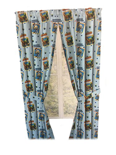 Toy Story Drapes Kids Window Panel Curtains with Tie Backs (Sky Blue) (Toy Story Furniture)