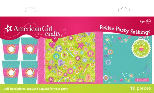 American Girl Crafts Doll Size Plates Cups And Napkins, Health Care Stuffs