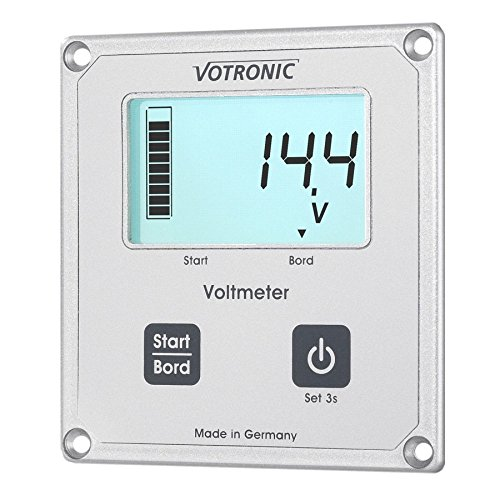 Votronic 1256 LCD-Voltmeter S fü r SR u. MPP Laderegler