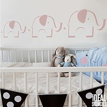 Elefant Kinderzimmer Schablone Kinder Heim Dekoration Farbe Wände Stoff Und  Möbel Wiederverwendbar Kunst Handwerk   Halb