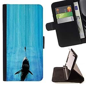 Momo Phone Case / Flip Funda de Cuero Case Cover - Tiburón de mandíbula;;;;;;;; - Sony Xperia Z5 Compact Z5 Mini (Not for Normal Z5)
