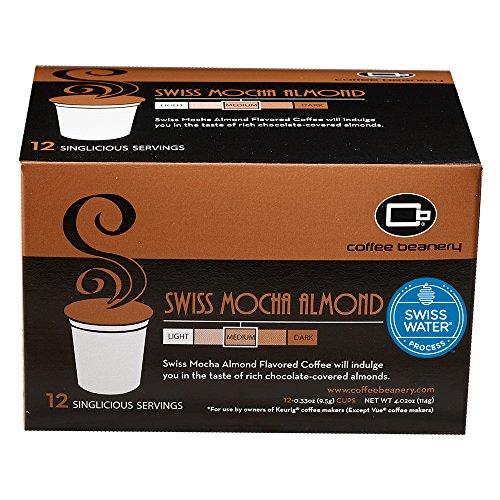 Coffee Beanery Swiss Mocha Almond SWP Decaf Singlicious Servings Single-cup Coffee Pack Sampler for Keurig K-cup Brewers