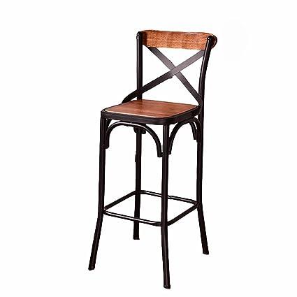 Amazon.com: DYFYMX,Stylish Stool American Iron Bar Chair ...