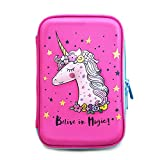 Unicorn Pencil Case by JoJo Kids Cute Pencils Holder | Large Size Crayon Box with Compartments for Girls Keep Kids School Supply Well Organized