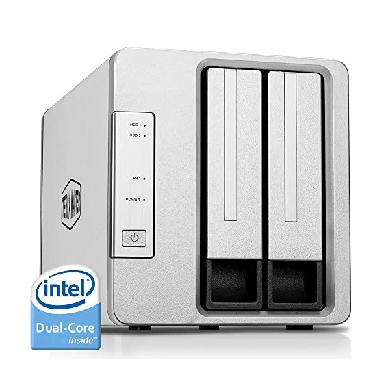 TerraMaster NAS Cloud Storage Intel Dual/Quad Core 2.0GHz Plex Media Server Network Storage (Diskless) 1 POWERFUL HARDWARE: Intel Apollo J3355 2.0GHz dual-core CPU, and 2GB of RAM (expandable up to 4GB). Blazingly fast speed of 200 MB/s reading and 190 MB/s writing. AES hardware encryption engine encrypts shared folders and network data transmission to keep data from unauthorized access. Advanced Btrfs file system offering 71,680 system-wide snapshots and 1,024 snapshots per shared folder.