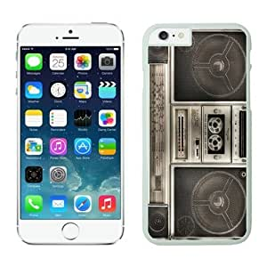 Iphone 6 Plus Case 5.5 Inches, Boombox Vintage Design White Cell Phone Protective Cover Case for Apple Iphone 6 Plus
