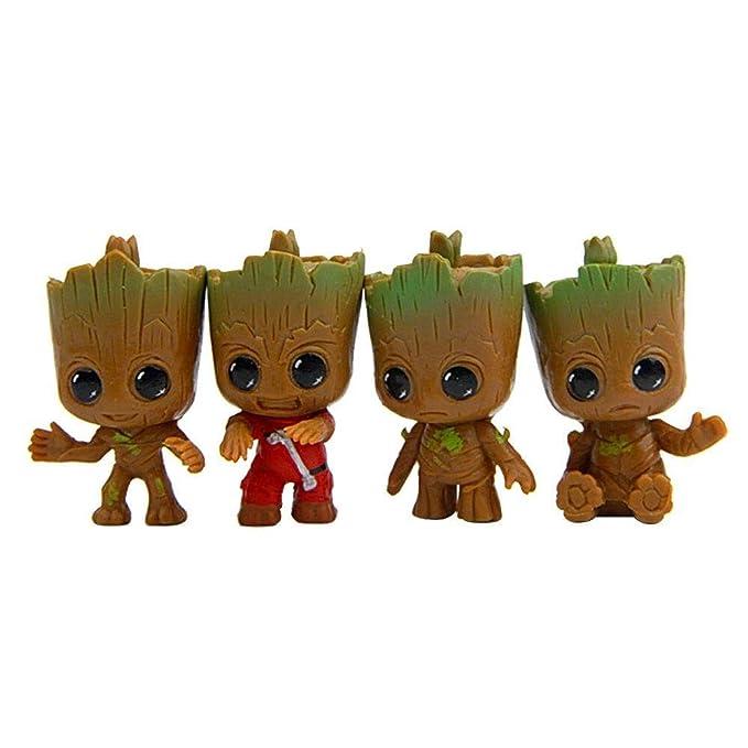 Klauee Groot Llavero, 4 Piezas Guardianes de la Galaxia Groot bebé llaveros, Mejor Regalo para Amigos y Familia