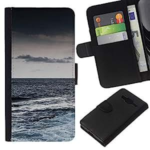 Stuss Case / Funda Carcasa PU de Cuero - Naturaleza Hermosa Forrest Verde 155 - Samsung Galaxy Core Prime