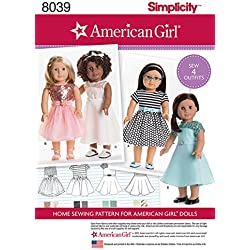 Simplicity Patterns American Girl Doll Clothes for 18 Inch Doll Size: Os (One Size), 8039
