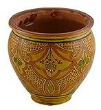 Flower Pot Moroccan Spanish Garden Drain Hole Ceramic Planter Handmade
