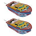 Lovoski 2枚入り 鉄製 キャンドルボート モデル おもちゃ 12.5 cm 子供 贈り物