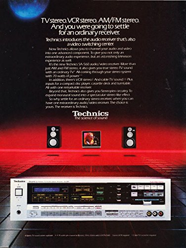 1985 Vintage Magazine Advertisement: Technics, The Science of Sound