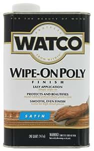 Rust-Oleum 68141 Watco Wipe On Polyurethane Finish, Quart, Clear Satin