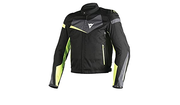 Amazon.com: Dainese Veloster Textile Jacket (BLACK/EBONY/FLUORESCENT YELLOW): Automotive