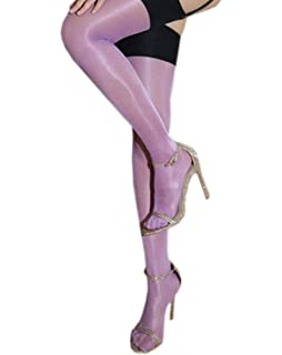 b6809451587 YiZYiF Women s Sheer Pantyhose Thigh High Shiny Silk Stockings ...