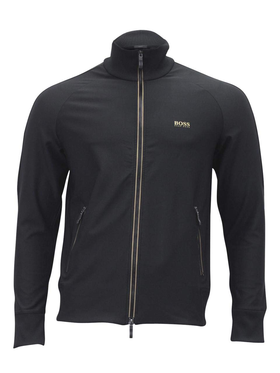 Hugo Boss Zip-Through Sweatshirt in Active-Stretch with S.Cafe (Large)