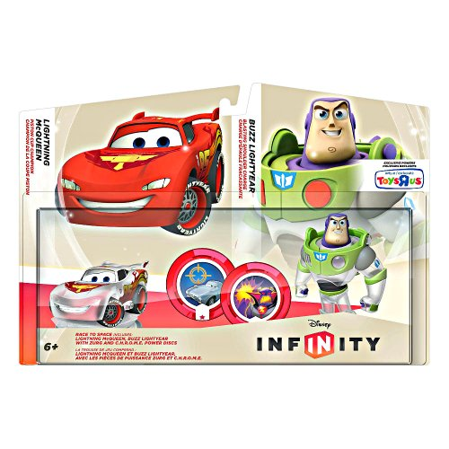 Disney Infinity Race to Space Pack (Crystal Lightning McQueen and Buzz - Outlet Mcqueen