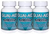 Guai-aid/600mg Guaifenesin Expectorant 300 Gelatin Capsules (3 Bottles of 100) & Travel Bottle by GUAI-AID