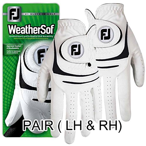 NEW Improved FootJoy WeatherSof Golf Gloves- Ladies Pair (Both LH & RH) - Choose Your Size