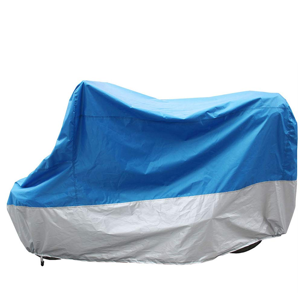 Motorcycle Cover, All Season Waterproof Outdoor Protection Precision Fit up to All Motors and Tour Bikes, Choppers and Cruisers Protect Against Dust, Rain and Weather GT20,XXL