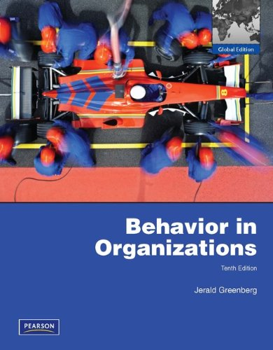 Behavior in Organizations.
