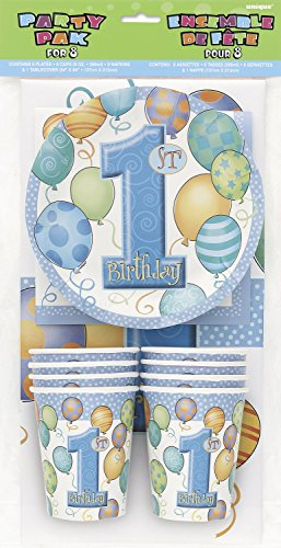 Blue 1st Birthday Party Tableware