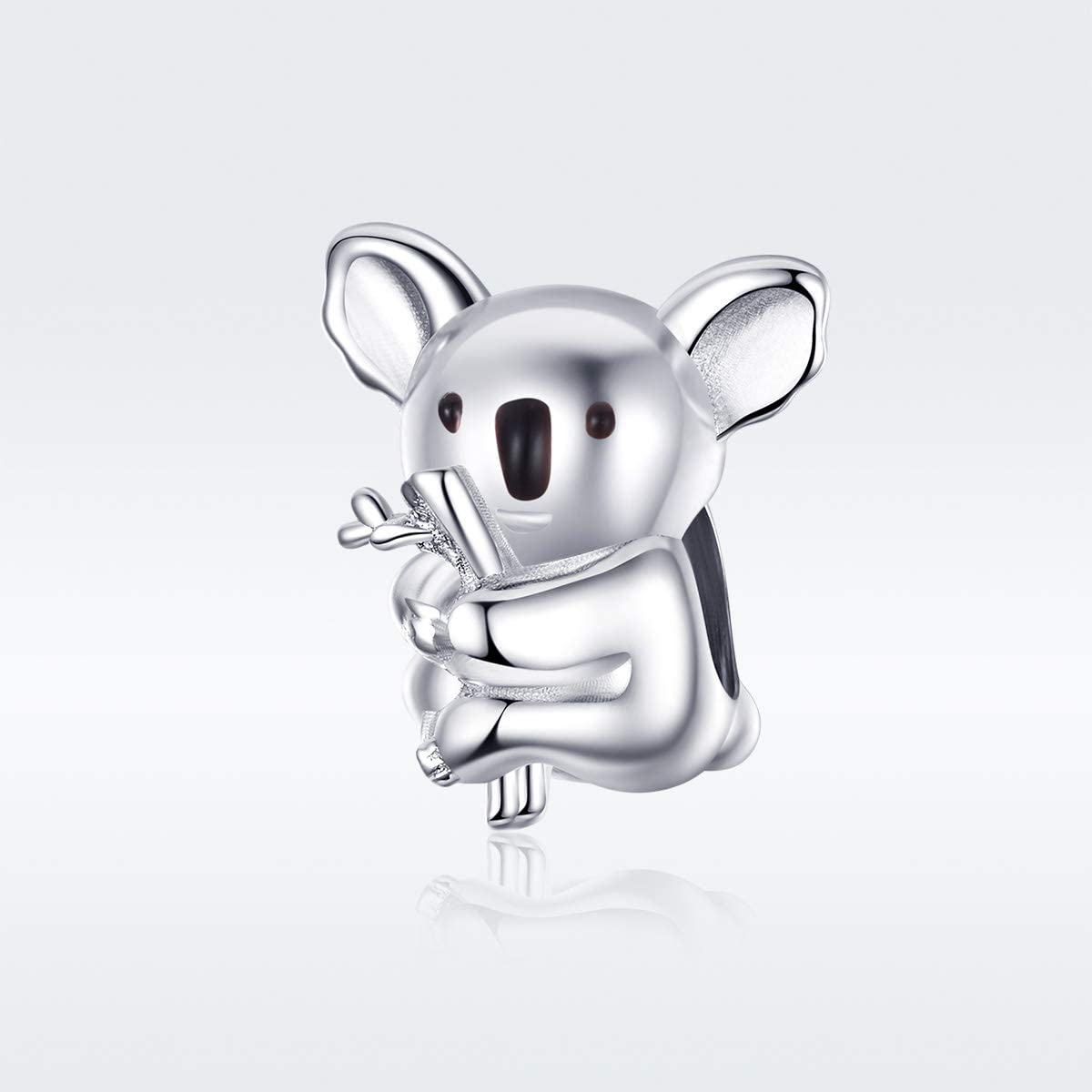 Koala Charms 925 Sterling Silver Animal Zoo Collection Metal Charms Bead  Compatible with Pandora Bracelets Necklace