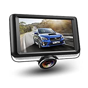 dr pro 4 5 lcd 360 degree panoramic dash cam 4 lane wide angle view car. Black Bedroom Furniture Sets. Home Design Ideas