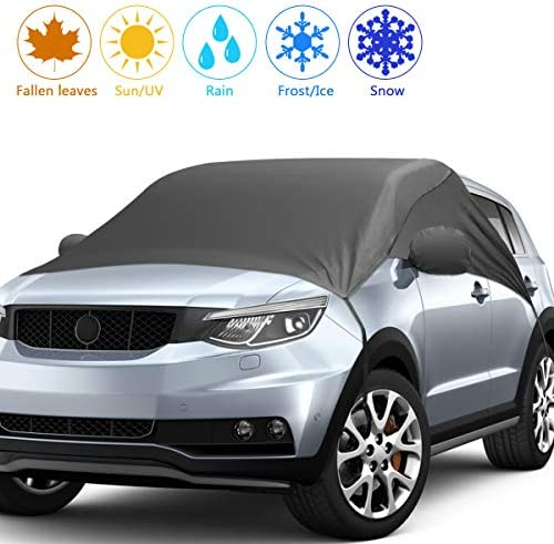 2020 Upgrade Version Car Windshield Snow Cover, Snow Ice Frost UV Cover for Car Front and Side Windshield & Rearview Mirror, Waterproof Car Snow Cover, Extra Large Size Fits Most Cars and SUV