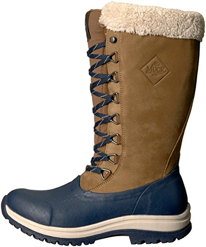 Muck Boot Women's Apres Lace Tall (13'') Work Boot, Otter/Total Eclipse, 7 M US by Muck Boot (Image #5)