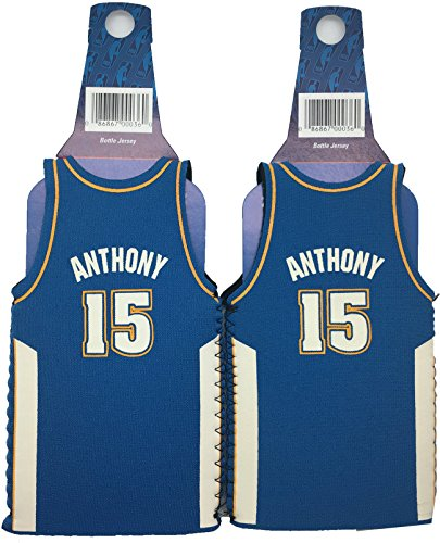 NBA Carmelo Anthony #15 Denver NuggetsThrowback Jersey Bottle Cooler 2-pack by Kolder