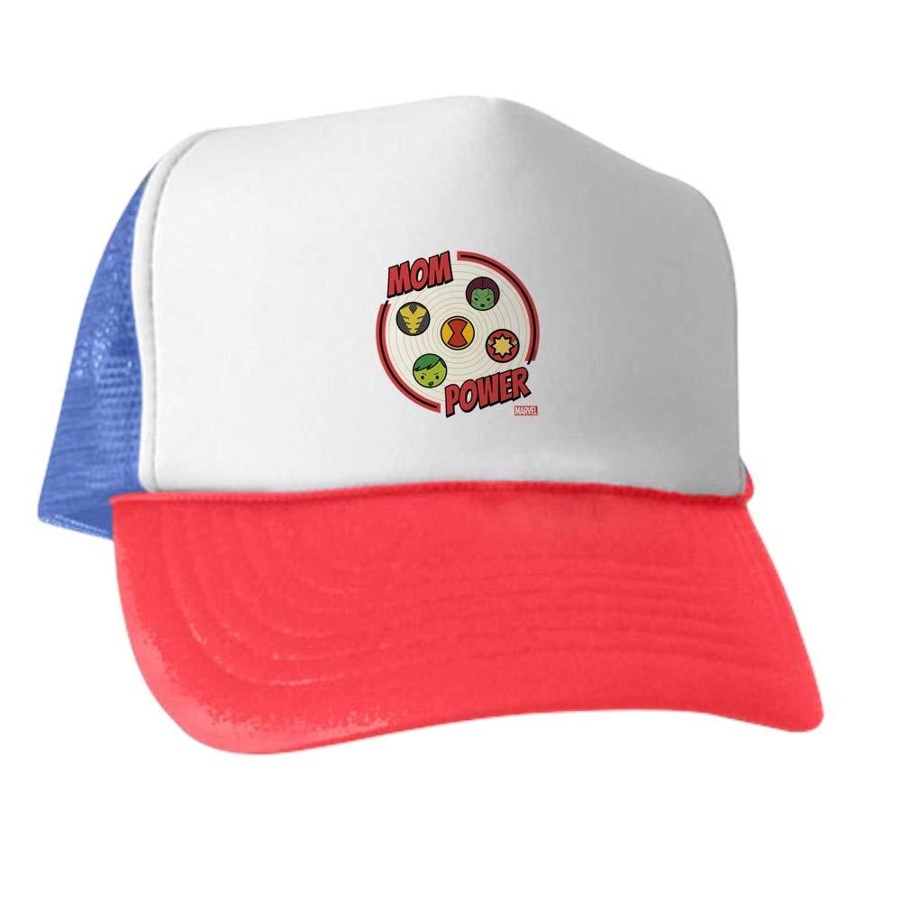 b86376e1b93 Amazon.com: CafePress Marvel Mom Power Trucker Hat, Classic Baseball Hat,  Unique Trucker Cap Black/White: Clothing