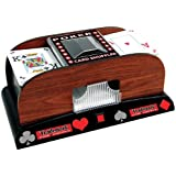 Trademark Trademark Poker Wooden Card Shuffler Card (Brown)