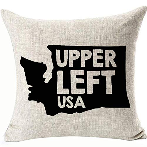 FaceYee Washington State Decoratives Cushion Covers Pillowcases Washington State Upper Left USA Pillowcovers for Chair Sofa Linen Removable Two Side Color:Washington State (Covers Patio State Washington)
