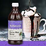 NuNaturals NuStevia Sugar-Free Cocoa Mint Syrup Natural Stevia Sweetener with 0 Calories, 0 Sugar, 0 Carbs (16 oz)