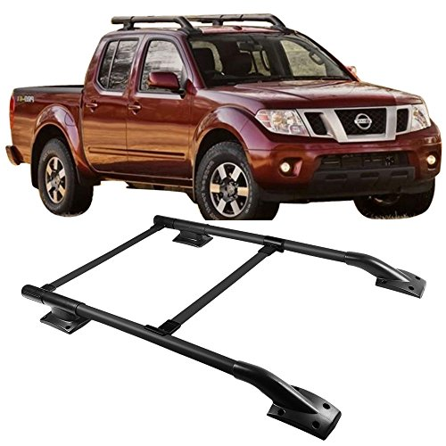 Roof Rack Fits 2005-2017 Nissan Frontier | 4Dr OE Factory Style SUV Roof Top Rail by IKON MOTORSPORTS | 2006 2007 2008 2009 2010 2011 2012 2013 2014 2015 2016 (Frontier Roof Rack)