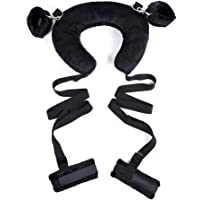 Ruinika New Plush Set Toy Suit Hands and feet restrained Ribbon SM Kit for Couple Adult Sexy Suit, Special Bundled Binding Couple Flirting Set for Sexy Fun SM Storage Bag Set Adult Products