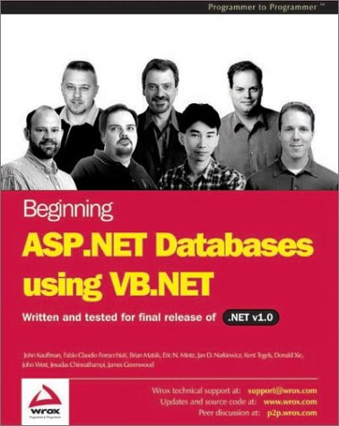Beginning ASP.NET Databases Using VB.NET John Kauffman