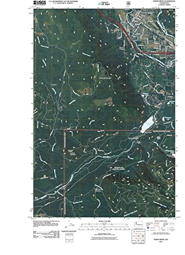 Washington Maps - 2011 North Bend, WA USGS Historical Topographic - Cartography Wall Art - 44in x ()