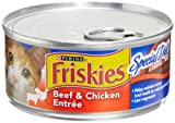 Friskies Cat Food Classic Pate, Special Diet Beef and Chicken Entree, 5.5-Ounce Cans (Pack of 24), My Pet Supplies