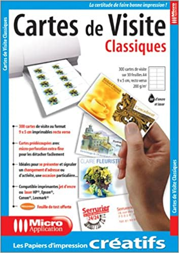 Pap Cartes De Visite Classiq 9782742940103 Amazon Books