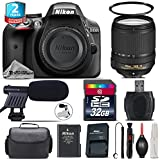 Holiday Saving Bundle for D3300 DSLR Camera + 18-140mm VR Lens + 2yr Extended Warranty + 32GB Class 10 Memory + Case + UV Filter + Cleaning Kit + Cleaning Brush + Card Reader - International Version