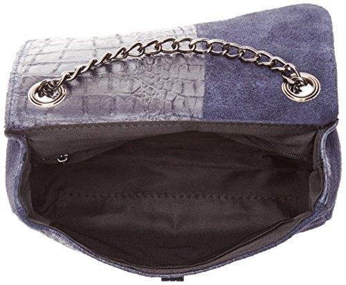 Mujer Chicca Borse Azul Mano De blu Bolsos 10029 rqrdw4X