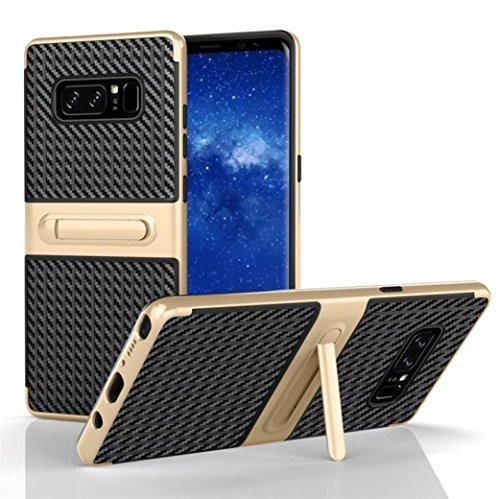 Note Gold Eighth (Coohole For Samsung Galaxy Note 8 ! New Shockproof Hybrid TPU + PC Full Cover Case Stand (Gold, Note 8))