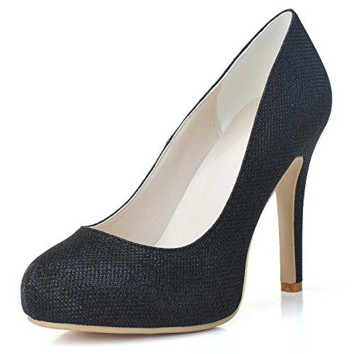 Mariage Hauts Flash 6915 PU Pour Talons Flash YC black L Femmes P Chaussures Platform à 03 De Chaussures qwS7xt1U