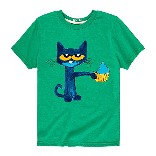 Pete the Cat Messy Cupcake - Toddler Short Sleeve Tee Kelly Green